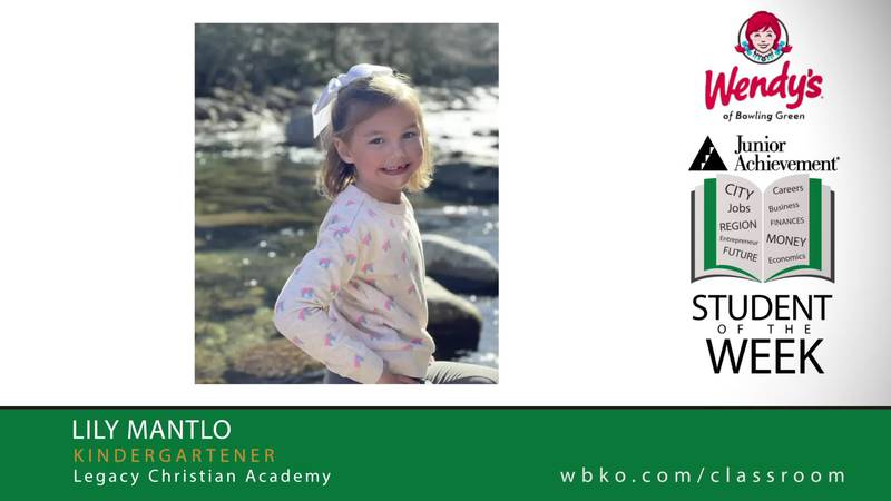 The JA Student of the Week is Lily Mantlo