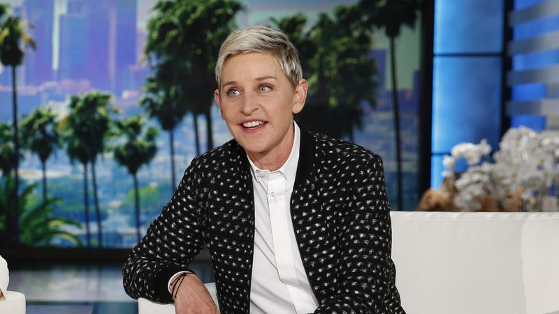 "FILE - Ellen DeGeneres appears during a taping of the ""The Ellen DeGeneres Show,"" in Burbank,..."