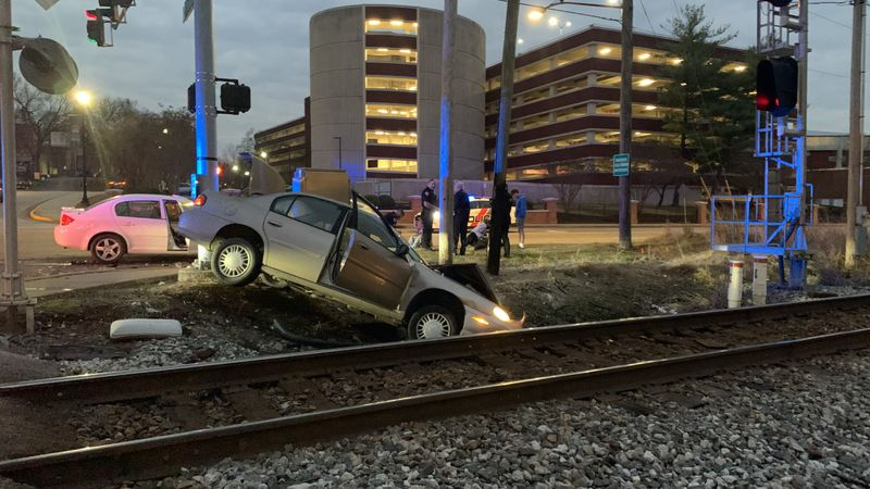 Police respond to two-car collision, one sent to hospital