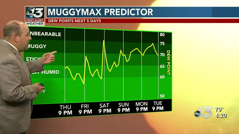 Turning more humid in the days ahead