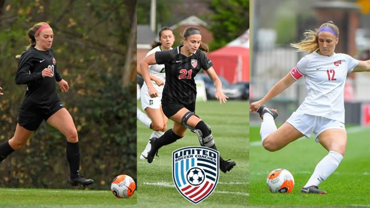 WKU soccer players, Ansley Cate, Avery Jacobsen and Chelsea Moore earn Player of Distinction...