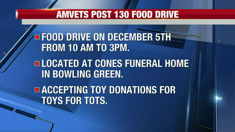 Local Amvets Post 130 hosting food and toy drive