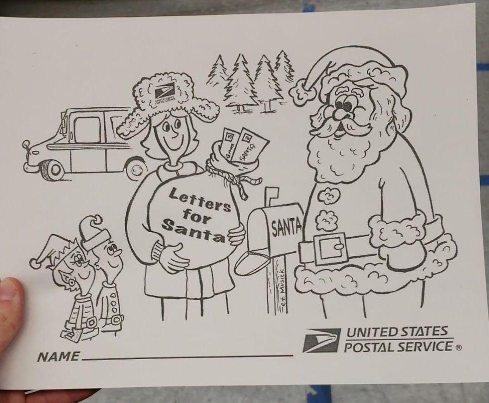Postal worker writes back kids' letters to Santa.