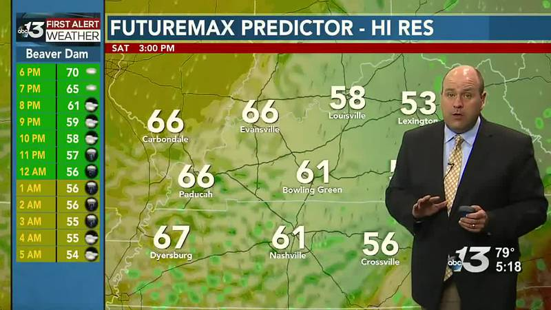 Unseasonably chilly Saturday, warming back up by Memorial Day