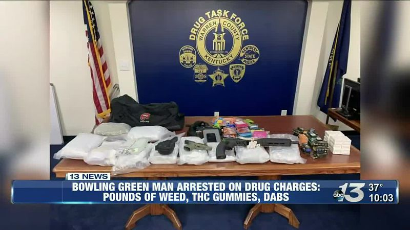 Bowling Green man arrested on drug charges after high-grade marijuana and THC gummies found
