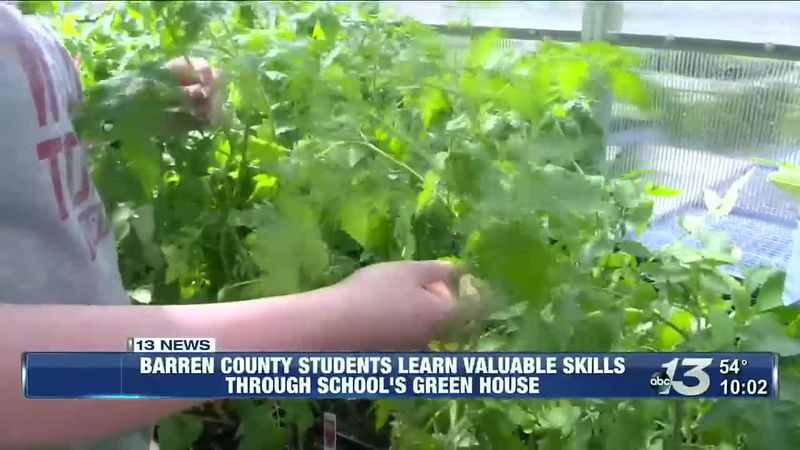 Barren County students learn valuable skills through schools green house