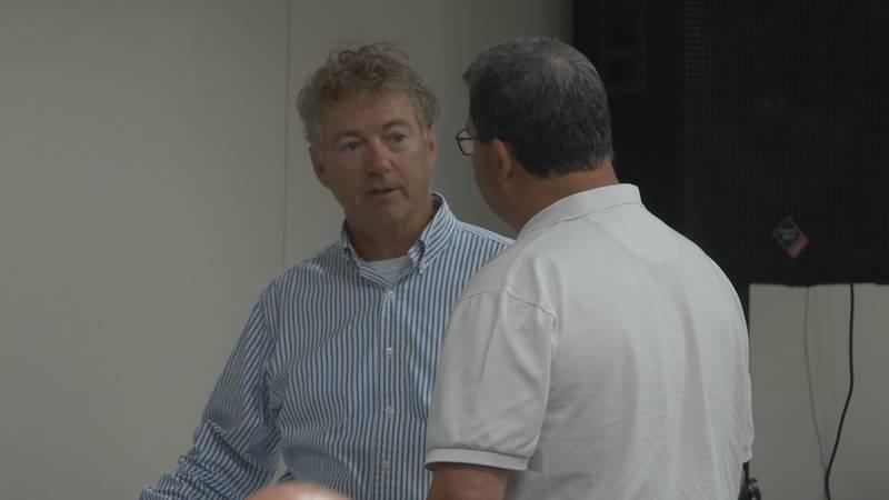 Senator Rand Paul makes stop in Morgantown