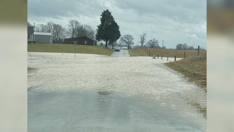 Director of Emergency Management Ronnie Pearson says the rainfall from Sunday created hazardous...