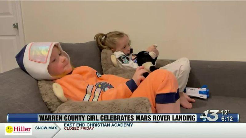 Good News: Warren County Girl Celebrates Mars Rover Landing