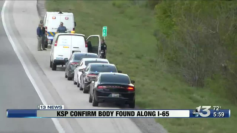 KSP confirm a body has been found alongside I-65