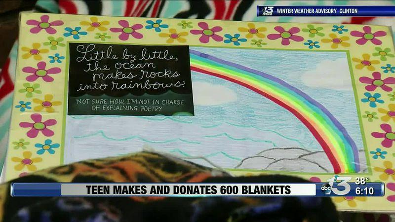 Good News: Teen Makes and Donates 600 Blankets
