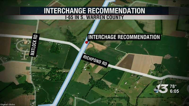 Rich Pond Road recommended for new I-65 interchange