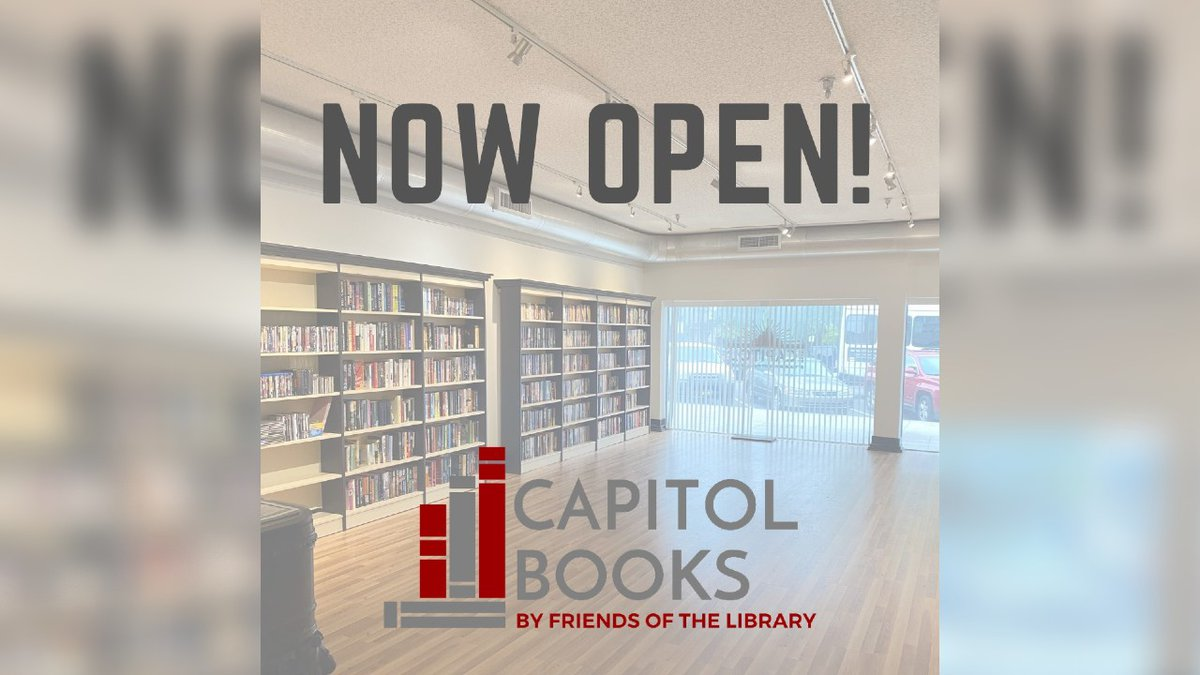 Friends of the Library has opened a used bookstore at the Capitol Arts Center.