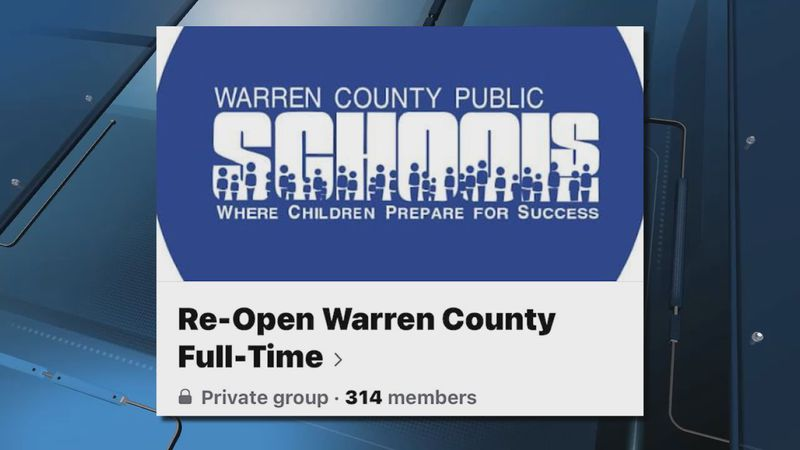 Parents Warren County Public Schools group advocate for schools to fully reopen online.