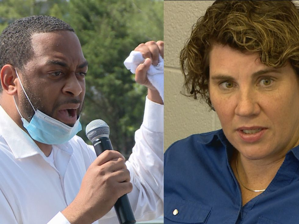 Charles Booker and Amy McGrath both campaigned in Ashland the day before the Kentucky primary.