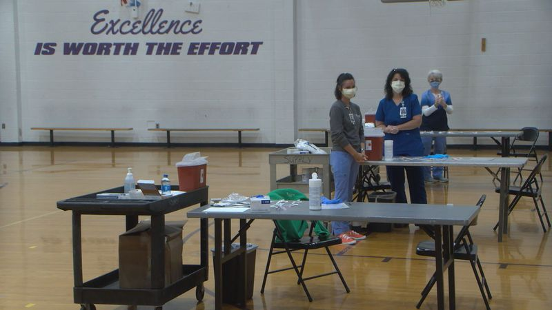 The vaccine clinic was in partnership with Med Center Health, offering the vaccine to students...