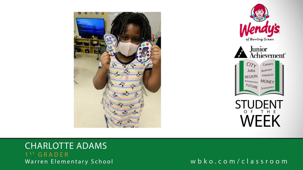 The JA Student of the Week is Charlotte Adams,