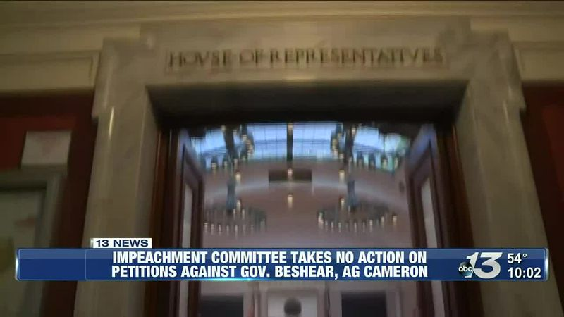 Impeachment committee takes no action on petitions against Gov. Beshear, AG Cameron