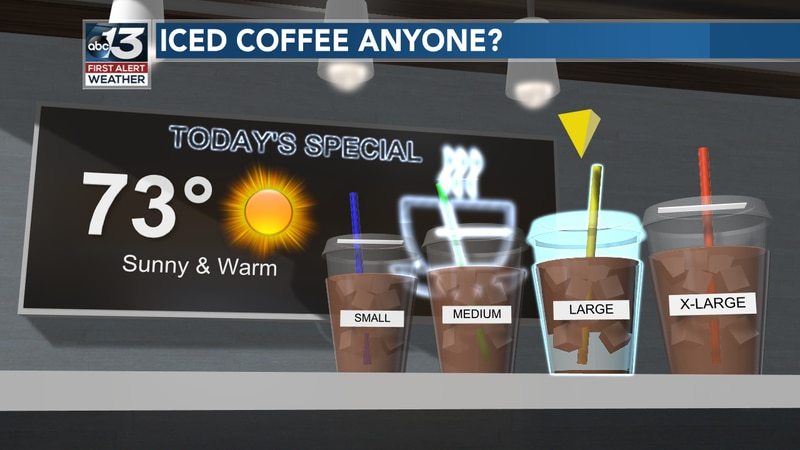 You may want extra ice with your iced coffee today as we will see the return of heat in the...