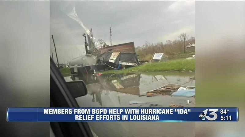 Members from BGPD Help with Hurricane IDA Relief Efforts in Louisiana