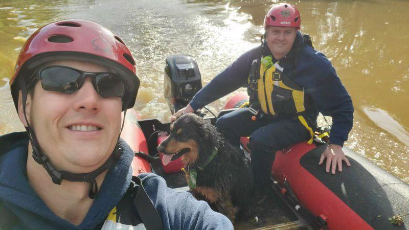 Dog rescue by BGFD.