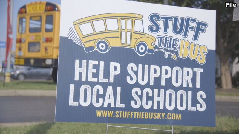 Stuff the bus raises more than $30,000 for students.