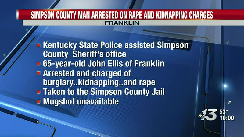 KSP arrest Simpson County man for rape and kidnapping