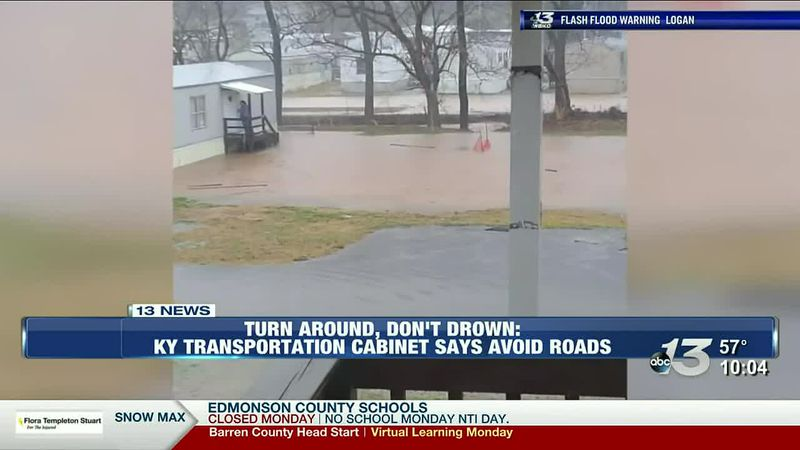 Kentucky Transportation cabinet says to avoid roads