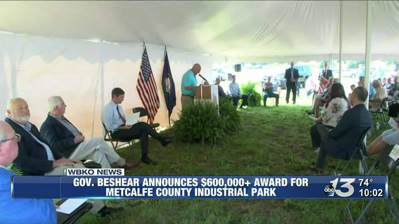Gov.Beshear Announces $600,000 plus Award for Metcalfe Co. Industrial Park @ 10