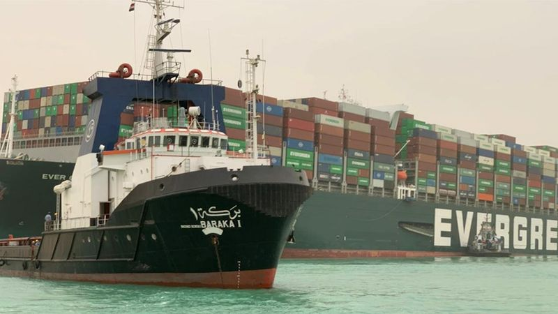 The MV Ever Given, a Panama-flagged ship that carries cargo between Asia and Europe, ran...