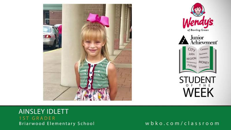 The JA Student of the Week is Ainsley Idlett,