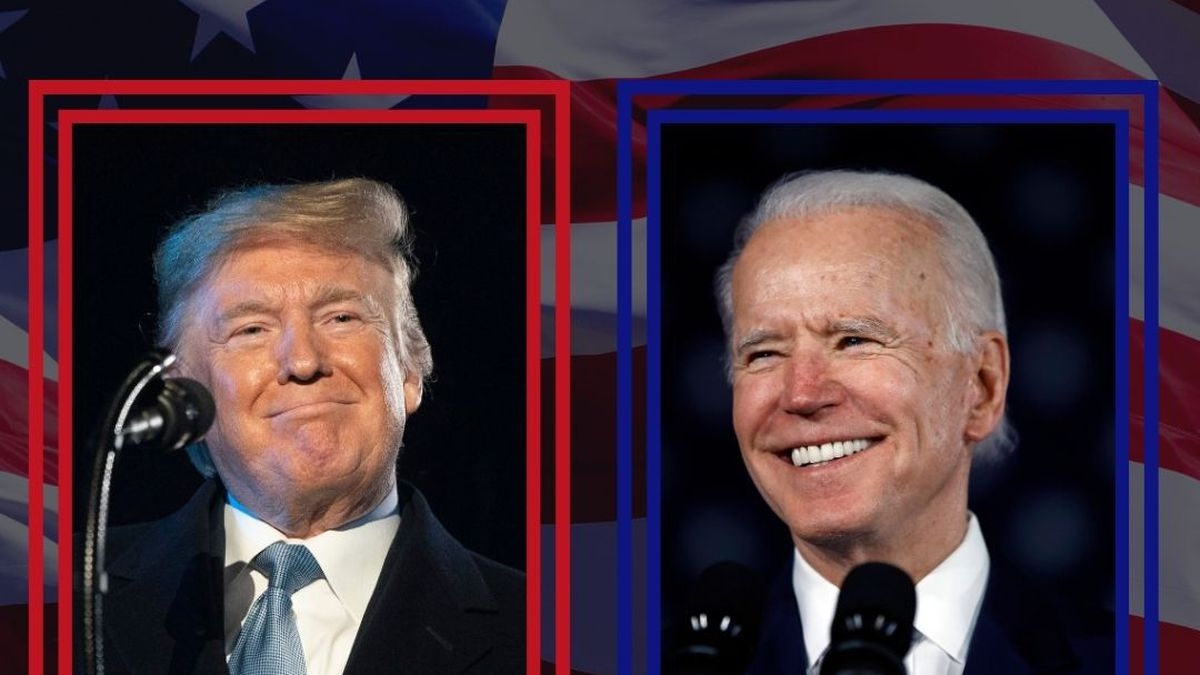 President Trump and former vice president Joe Biden both responded to questions in different parts of the country.
