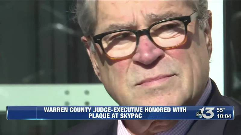 Warren County Judge-Executive Honored with Plaque at SKYPAC