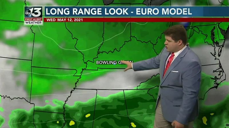 Tracking dry weather for south-central Kentucky for the first half of the work week!