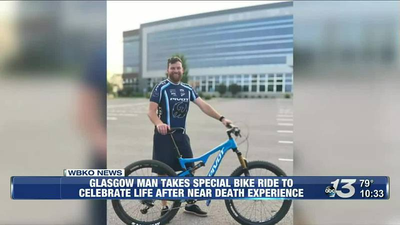 Glasgow Man Takes Special Bike Ride to Celebrate Life After Near Death Experience