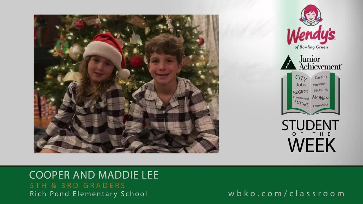 The JA Students of the Week are Cooper and Maddie Lee,