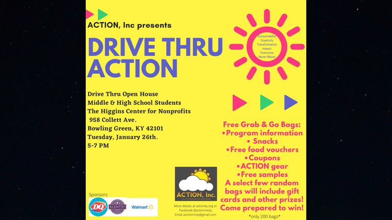 Drive thru open house for ACTION, Inc.