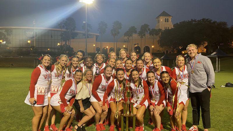 WKU All-Girl Cheerleading squad