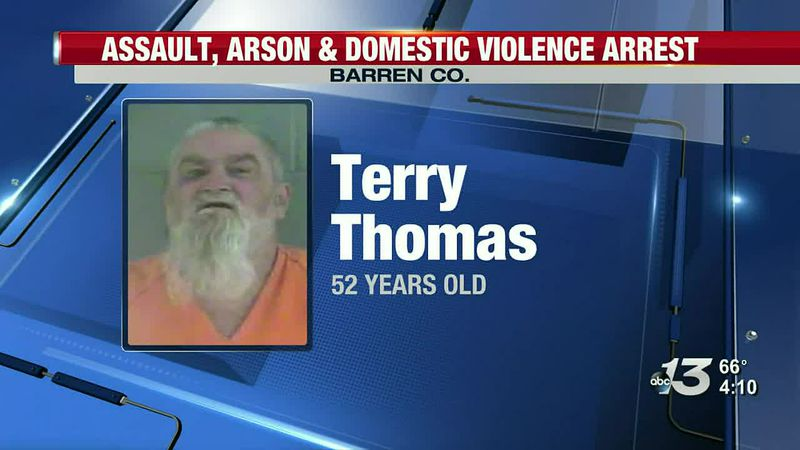 Assault, arson and domestic violence arrest in Cave City