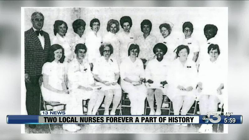 Two local nurses forever a part of history