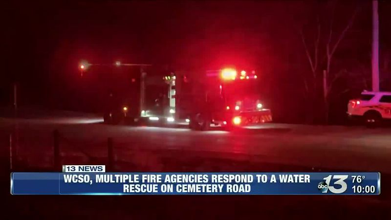 WCSO, multiple fire agencies respond to a water rescue on Cemetery Road