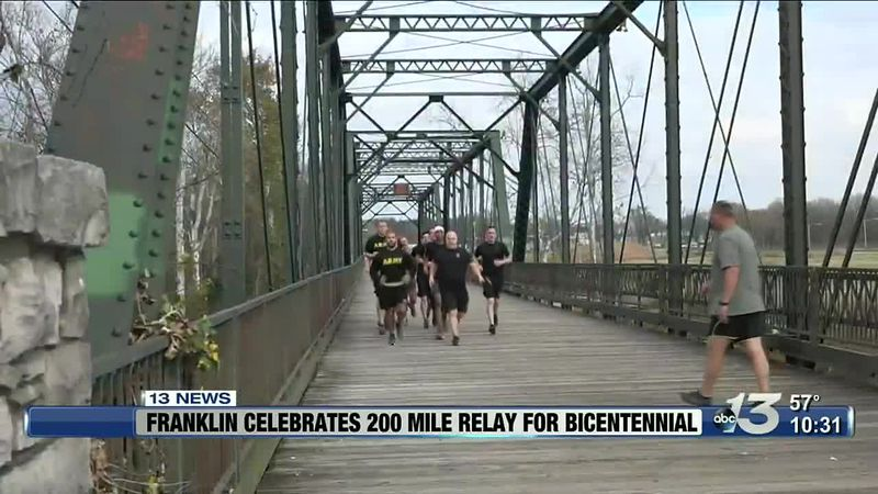 City of Franklin celebrates 200 years with 200 mile Bicentennial Relay Run