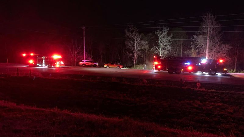 Officials tell 13 News the water rescue is taking place at a bridge on Cemetery Road.