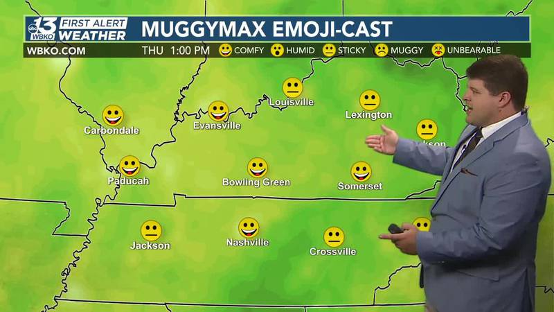 Today will be relatively pleasant, but you'll notice more humidity going into the end of the...