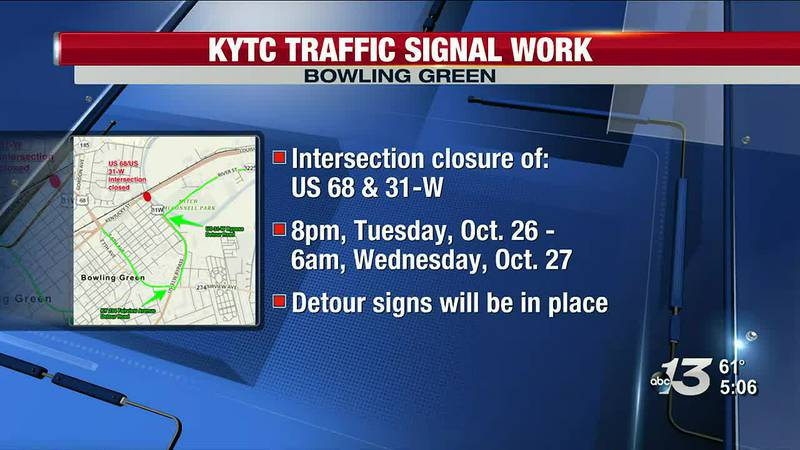 Intersection Closure at US 68 & 31-W in Bowling Green