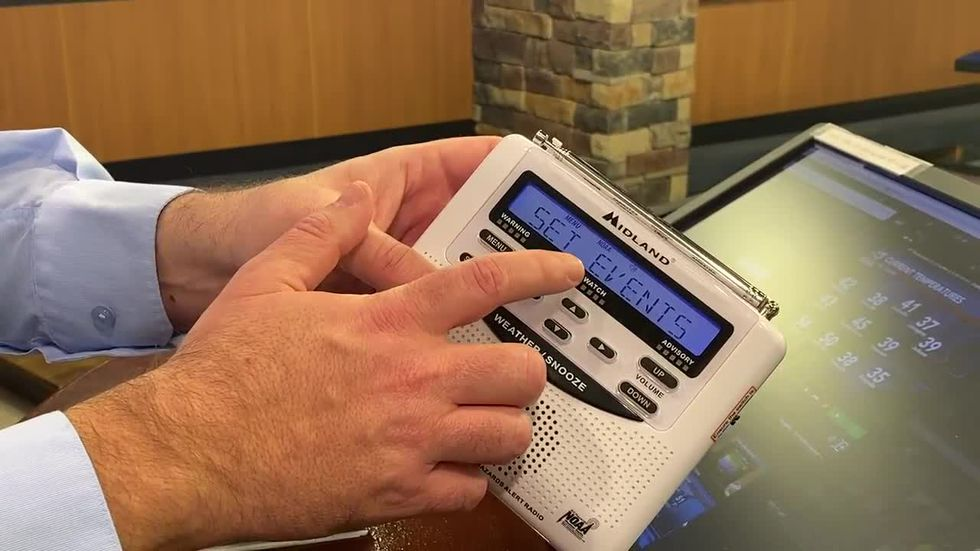 Chief Meteorologist Shane Holinde explains how to set up a Midland Weather Radio so you can be...