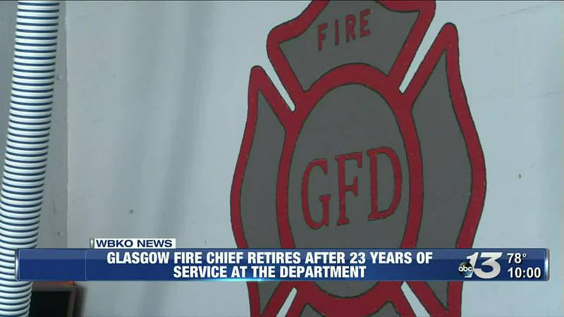 Glasgow fire chief retires after 23 years of service at the department