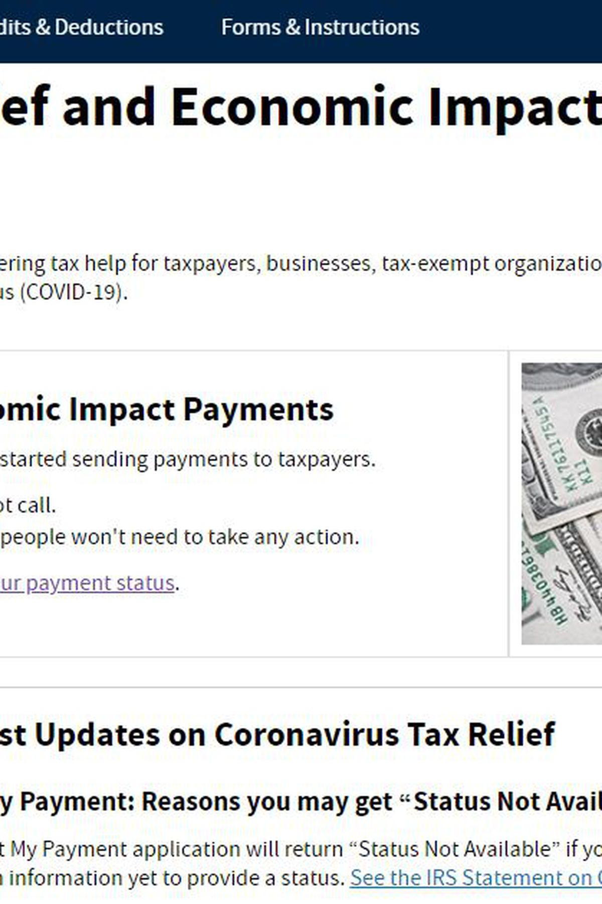 Have You Received Your Stimulus Payment