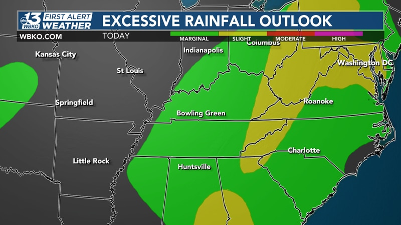 Locally heavy rainfall will be possible today - and flash flooding is a possibility as the...