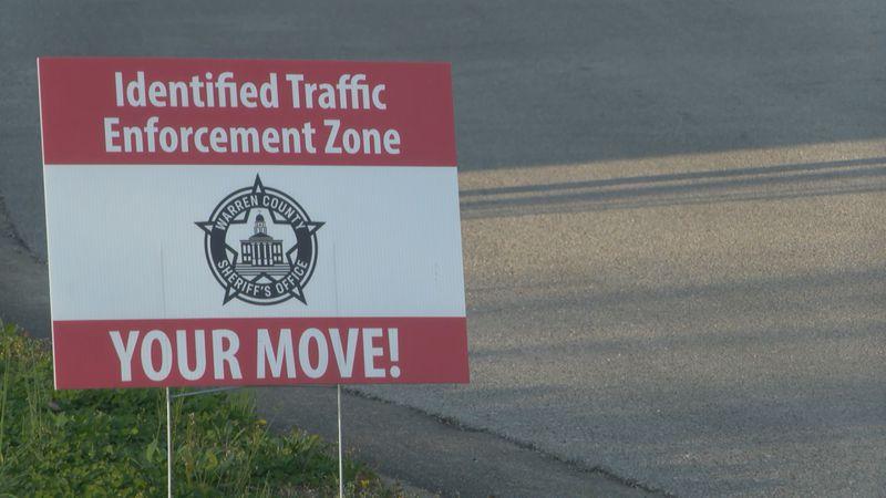 Warren County Sheriff's Office creates signs to identify 'traffic enforcement zone'